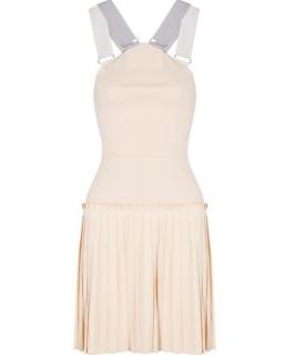 Victoria Beckham pleated cotton-blend crepe mini dress