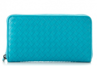Bottega Veneta Nappa Intrecciato Zip Around Wallet