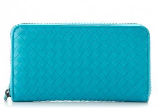 Bottega Veneta Nappa Intrecciato Zip Around Wallet