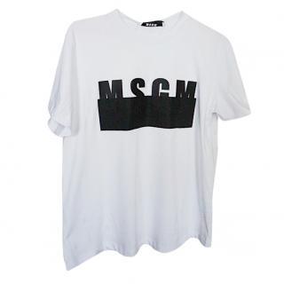 MSGM logo tshirt