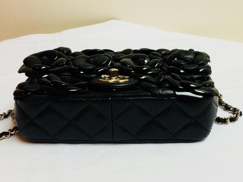 139e3071c6ce Chanel Limited Edition Black Leather Camellia Flower Flap Bag. 21.  12345678910