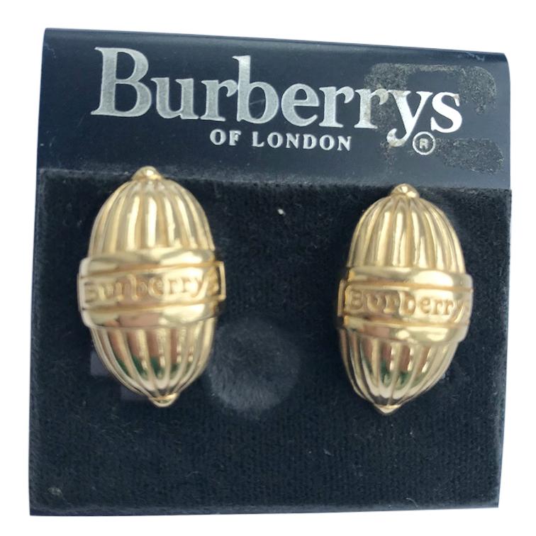 Burberry's Vintage Logo Gold Earrings