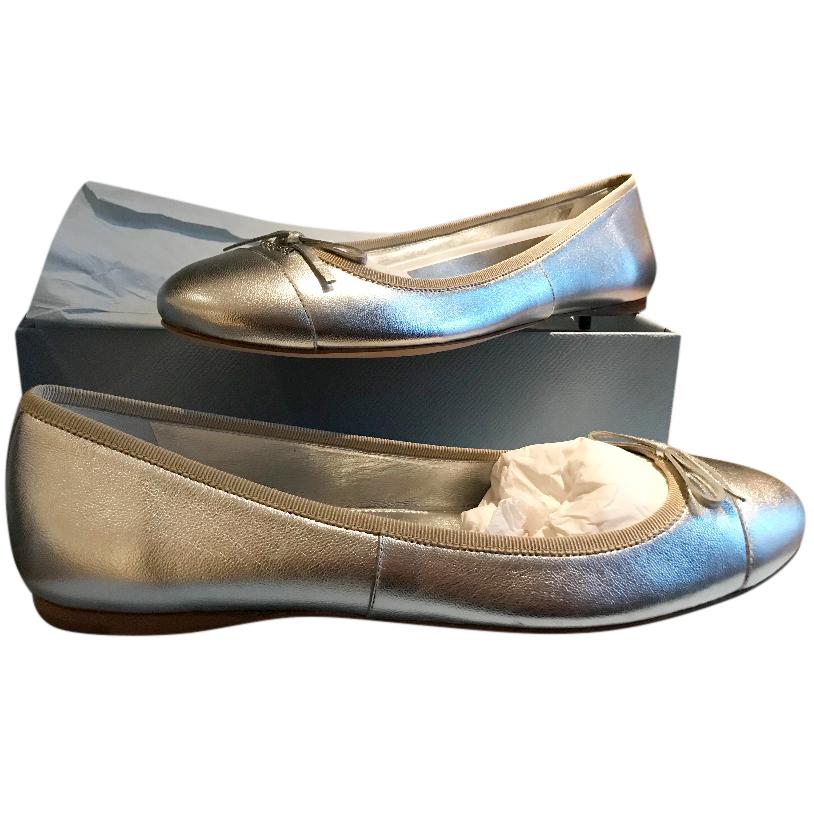 Prada Metallic Ballerina Pumps
