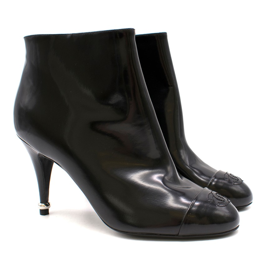 Chanel Patent Ankle Boots