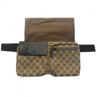 Gucci GG Monogram Beltbag Brown