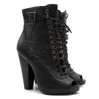 Givenchy Lace Up Ankle Open Toe Boots