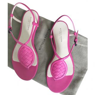Bottega Venetta  pink sandals