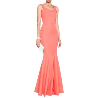 Roland Mouret Ortheus Gown In Bright Coral RPI �2,600