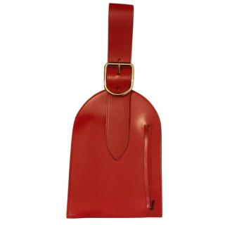 MM6 red top handle bag