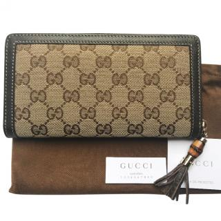 Gucci GG Brown Monogram Purse