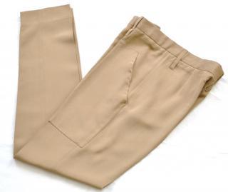 Celine nude silk trousers