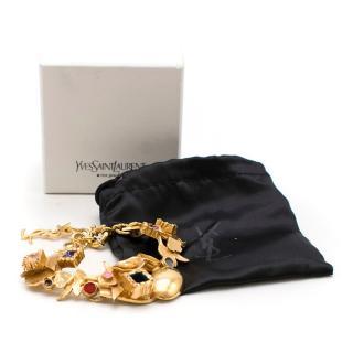 Yves Saint Laurent Gold Charm Bracelet