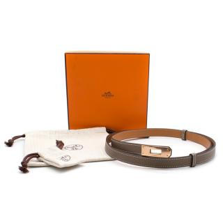 Hermes Taupe Epsom Leather Kelly Belt