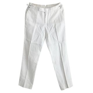 Tom Ford white linen trousers