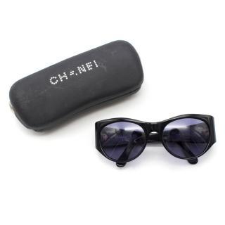 Chanel Black CC Sunglasses