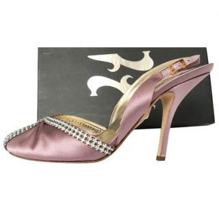 Gina powder violet crystal sandals