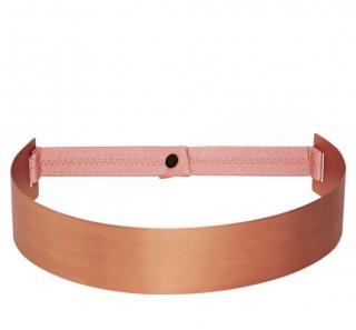 Roksanda pink copper plated waist belt
