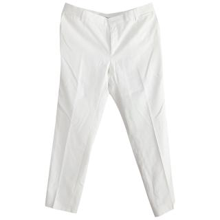 Dolce and Gabbana Cream wool suit trousers