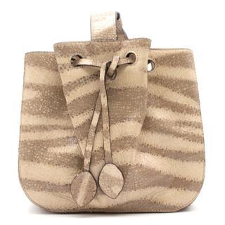 Alaia Stingray Medium Bucket Bag