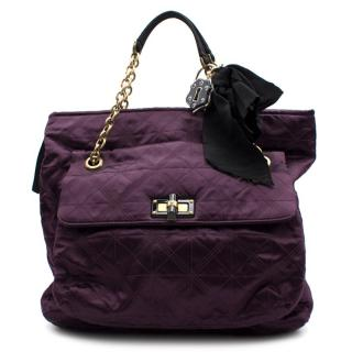 Lanvin Purple Quilted Happy Bag