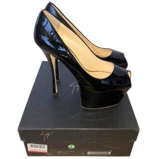 Giuseppe Zanotti Liza 90 Patent Platform Heels