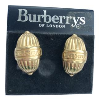 Burberry's Vintage Logo Gold Earrings