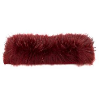 'S MaxMara Racoon Fur Collar