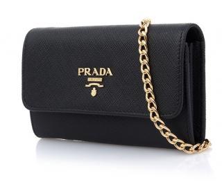 Prada Saffiano Leather Card Holder new