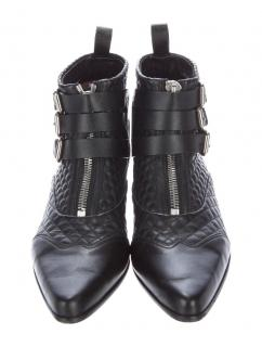Tabitha Simmons Early Quilted Leather Ankle Boots