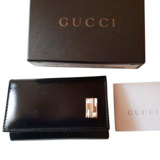 GUCCI Black Leather Key holder wallet