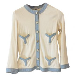 Chanel vintage cream cardigan jacket
