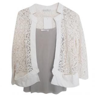 MaxMara lace jacket twin set