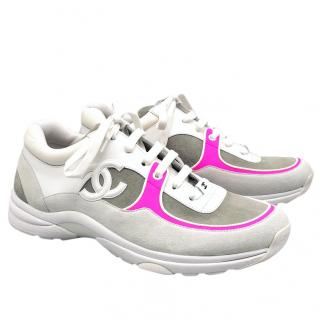 Chanel pink trim trainers 2018 collection