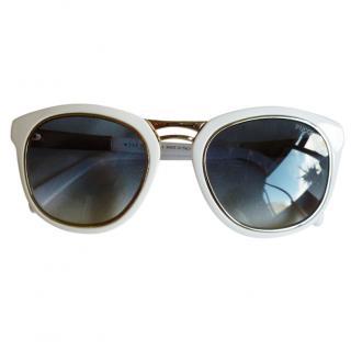 Emilio Pucci White Frame Sunglasses