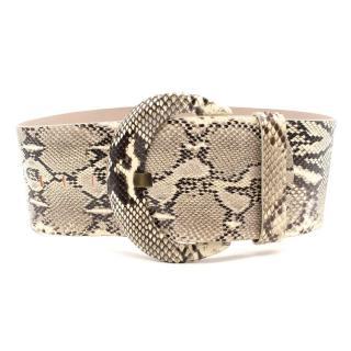 Alexander Mcqueen Python Leather Wide Belt