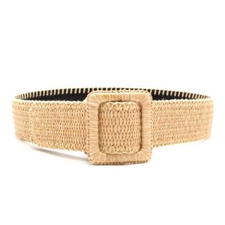 Yves Saint Laurent Beige Wicker Belt