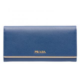 Prada bluette Saffiano Leather Wallet