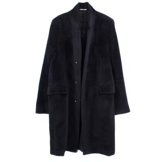 Paul Smith Alpaca and Wool Blend Boucle Overcoat