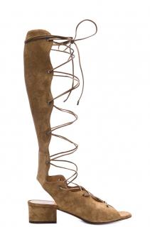 YSL Suede Gladiator Sandals