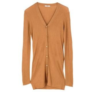 Prada Wool & Cashmere Ribbed Cardigan