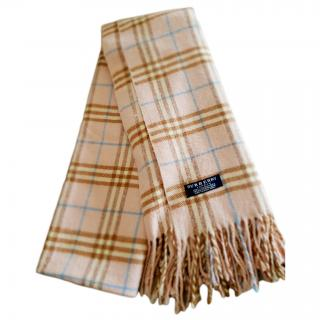Burberry 100% cashmere shawl scarf