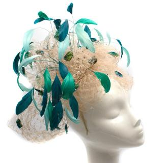 Chapeaux KiKi Fascinator With Peacock Feathers