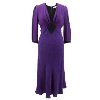 Libelula Purple Silk embellished Dress