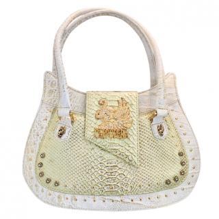 Cappopera Pistachio/Ecru/Gold Python Handbag