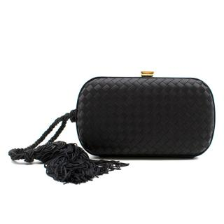Bogetta Veneta Black Knot Satin Clutch