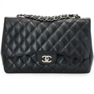 Chanel Jumbo Caviar Leather Flap Bag