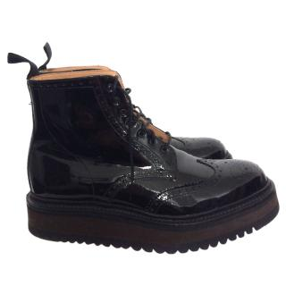 Giles Deacon x Grenson Patent Boots