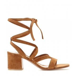 Gianvito Rossi Janis Low Suede Sandals