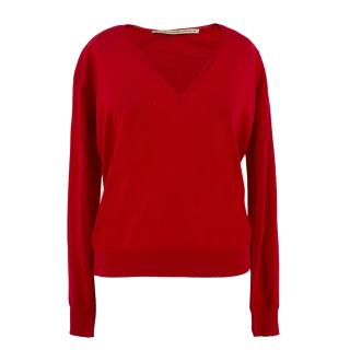 Balenciaga Red Cashmere Sweater