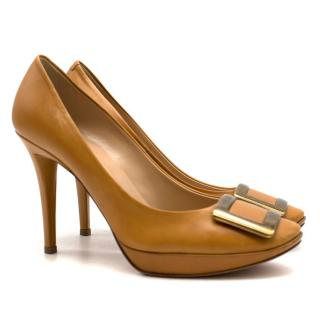 Roger Vivier Buckle Heeled Leather Pumps